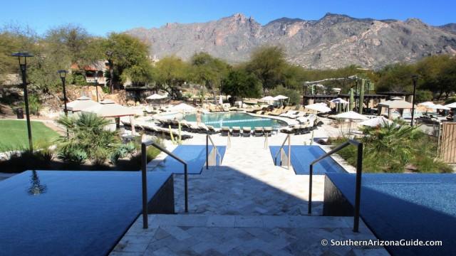 View from Westin La Paloma's Azul Restaurant.