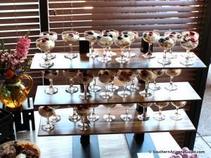 Racks of outstanding desserts.