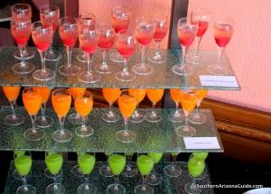 Amazing array of unique juices.