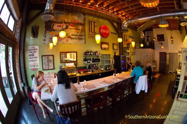 Bar Area at Bianco Pizzeria Tucson
