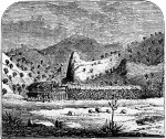 1860 drawing of Dragoon Springs Stage Station