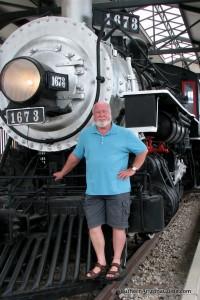 Jim Gressinger at historic Tucson train depot.