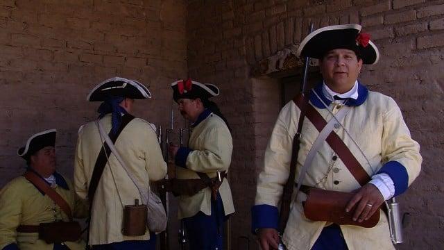 Spanish soldiers at El Presidio San Agustin del Tucson.