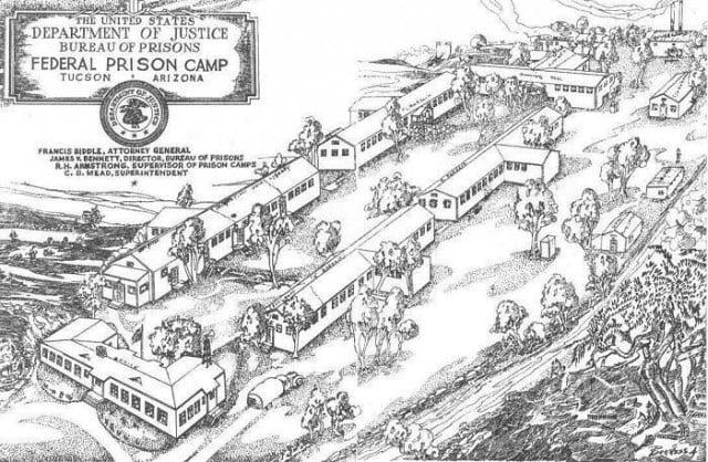 Sketch of Catalina Federal Honor Camp