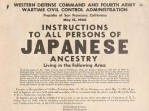 Japanese internment sign