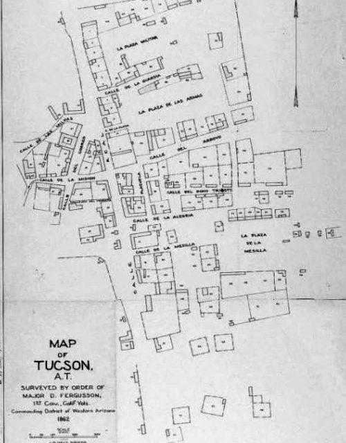 Tucson Map 1862