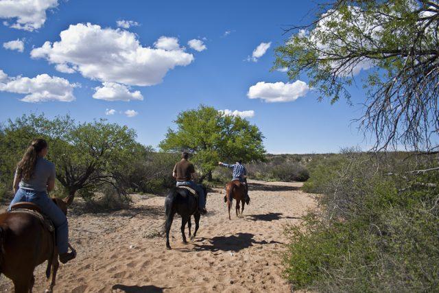 Horseback riding at Tombstone Monument Ranch.