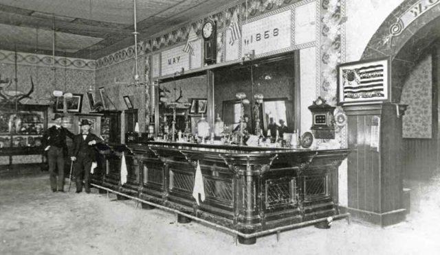Congress Hall Saloon established 1868.