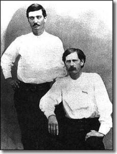 Bat Masterson with Wyatt Earp (seated)