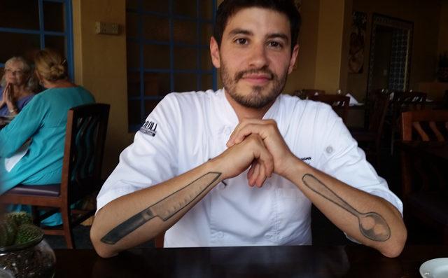 Chef David at Cielos Restaurant