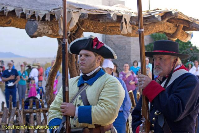 Spanish soldiers at El Presidio del Tucson