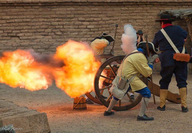 Cannon fire at El Presidio del Tucson