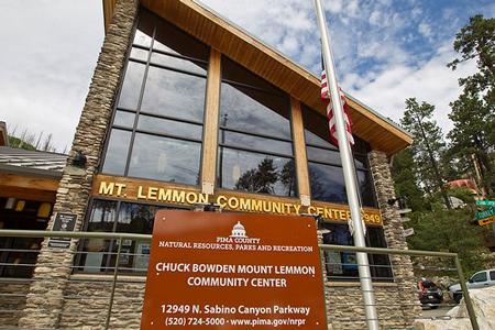 Chuck Bowden Mount Lemmon Community Center, 12949 North Sabino Canyon Pkwy. Mount Lemmon, AZ 85619