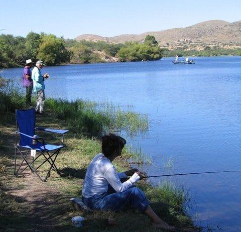 Arivaca Lake fishing