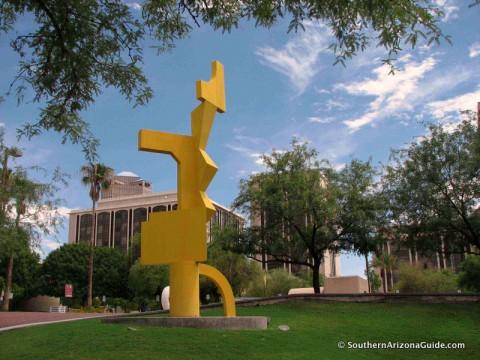 Sculpture In Front Of Tucson Museum Of Art