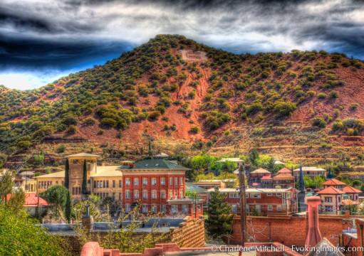 Bisbee, AZ: a half hour drive south of Tombstone.