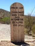 China Mary Tombstone