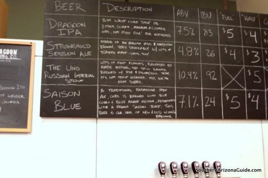 Dragoon's Beer Selections