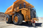370 Haul Truck at Mineral Discovery Center mine tour.