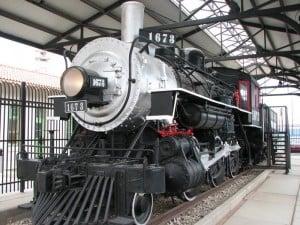 Restored steam locomotive at Transportation Museum downtown Tucson.