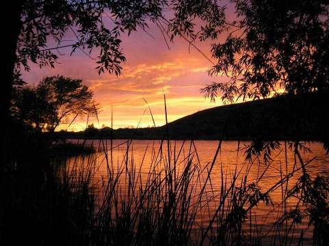 Patagonia Lake Sunset