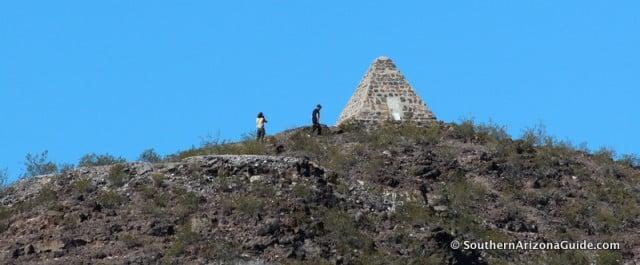 Monument Atop Poston Butte Near Florence, AZ.