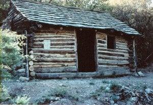 Klondyke Arizona: Restored Cabin of Jeff Power.
