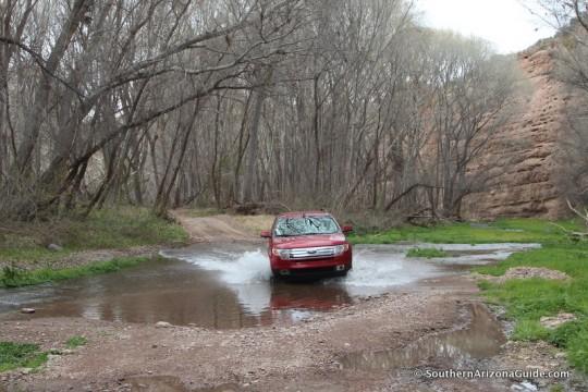Car in Aravaipa Creek
