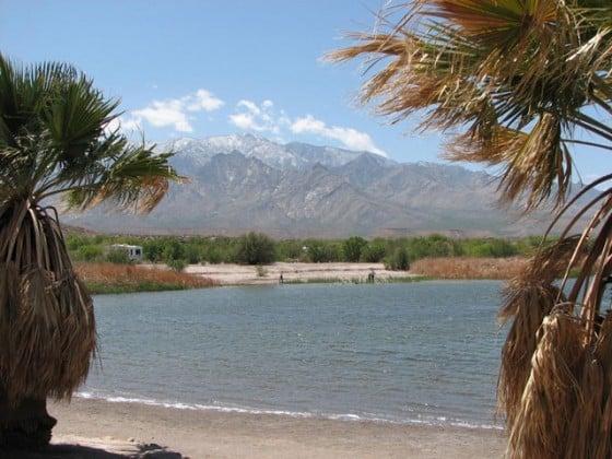 Roper Lake and Mt. Graham