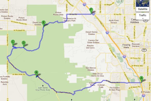 Saguaro National Park West Bajada Loop Drive