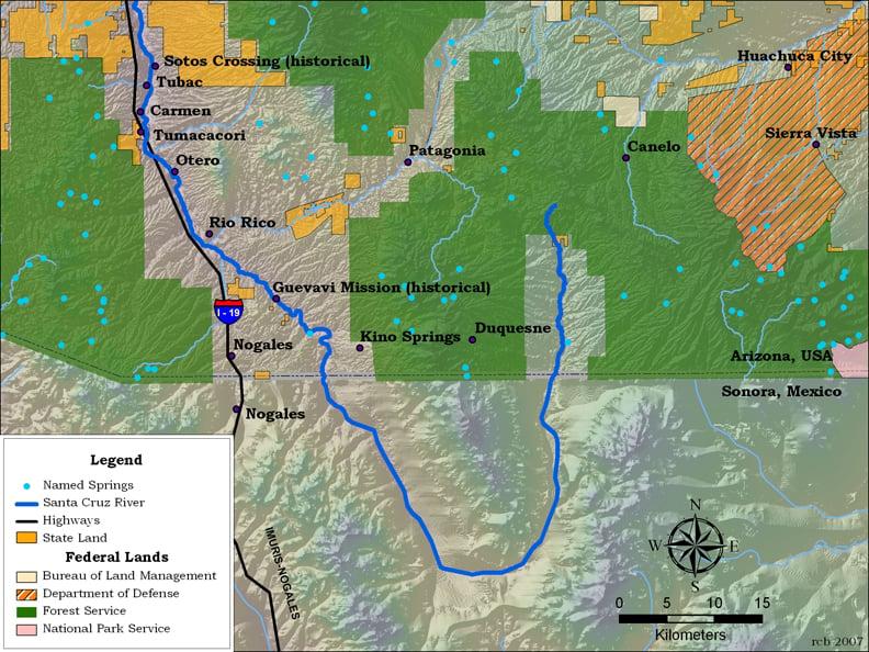 Santa Cruz River Map