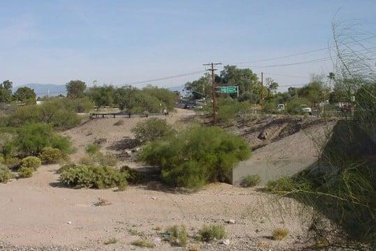 Santa Cruz River - usually just a dry river bed.