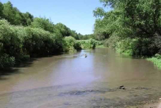 Santa Cruz River Just South of Mission Tumacacori.